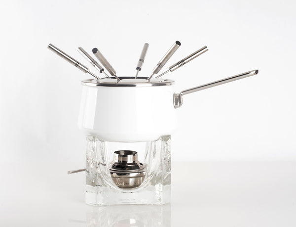 Vintage Chantal Fondue Pot with Stand and Forks