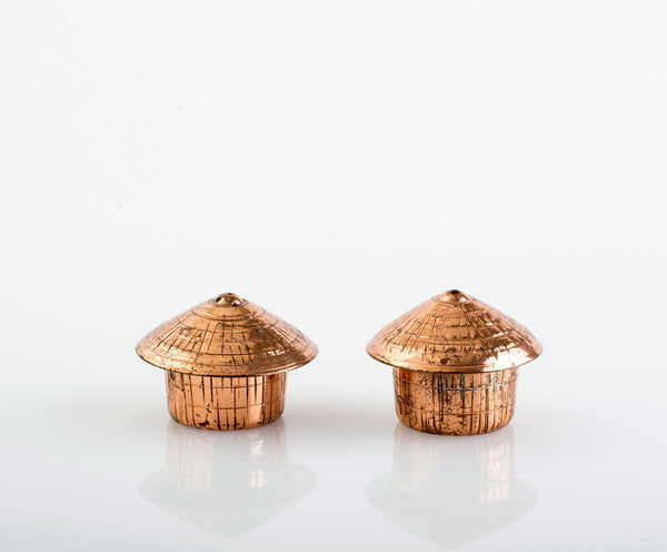 Copper Huts for Salt & Pepper