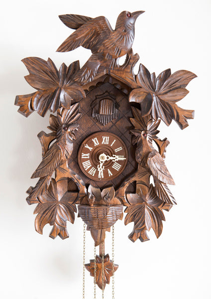 Wood Carved Bird Cuckoo Clock
