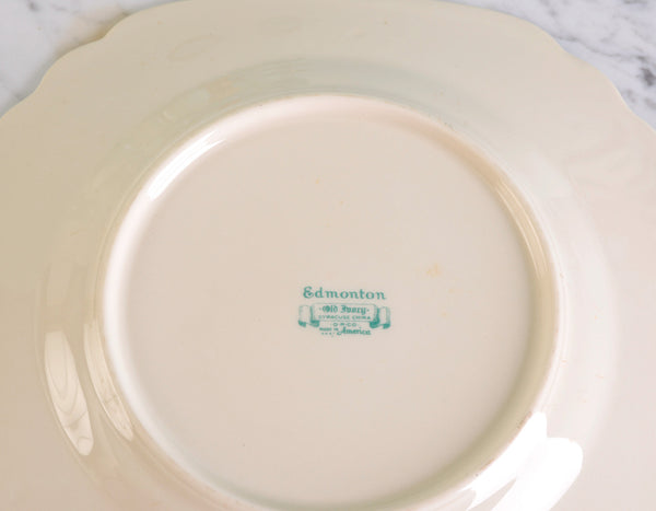 Backstamp of Edmonton Blue Vintage China by Syracuse