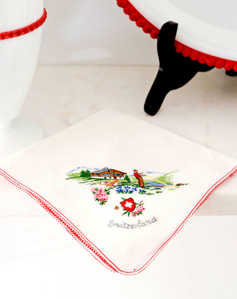 "Embroidered ""Switzerland"" Napkin"