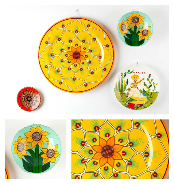 Miraflores Floral Plate Collage