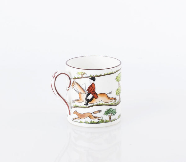 Crown Staffordshire Hunting Scene Demitasse Cup