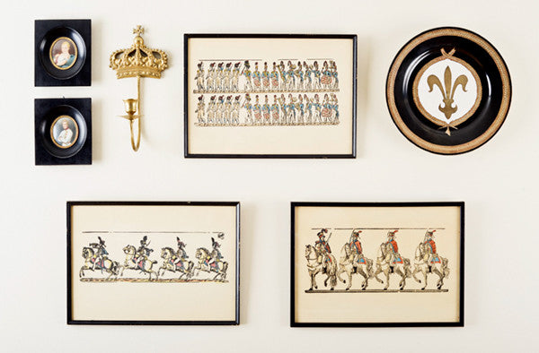 Fun French Empire Gallery Wall