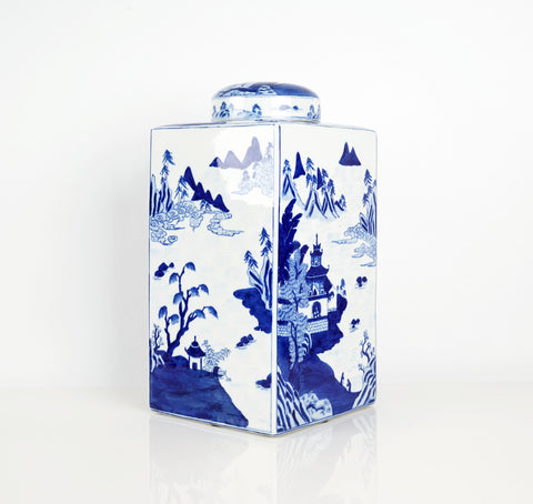 Blue and White Porcelain Ginger Jar
