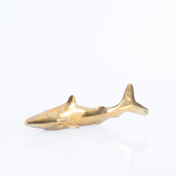 Brass Shark Figurine