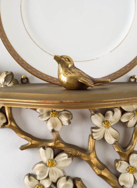 Sconce and Brass Bird Detail