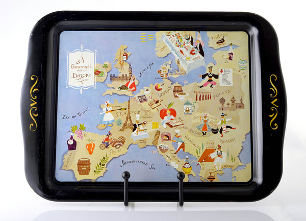A Gourmet's Map of Europe Tray