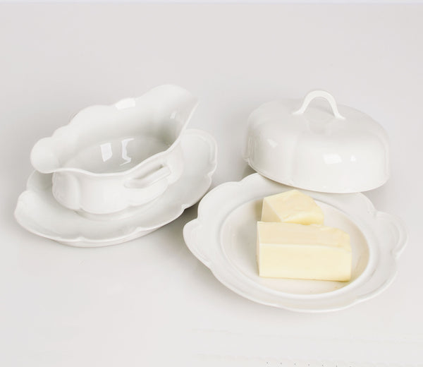 Haviland Gravy Boat and Butter Dish