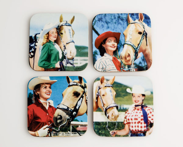 Hollywood Cowgirl Coaster Set