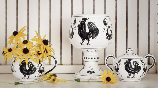 Black and White Rooster Collection