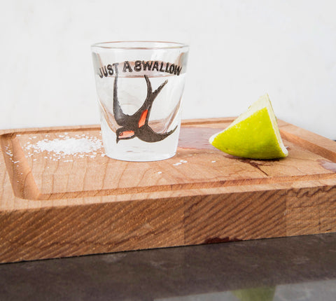 'Just a Swallow' Vintage Shot Glass