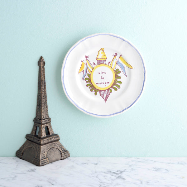 Longchamp Canape Plates and Eiffel Tower Bookends