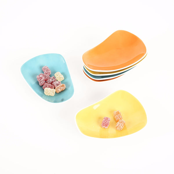 Midcentury Modern Petal-Shaped Trinket, Candy or Nut Dishes