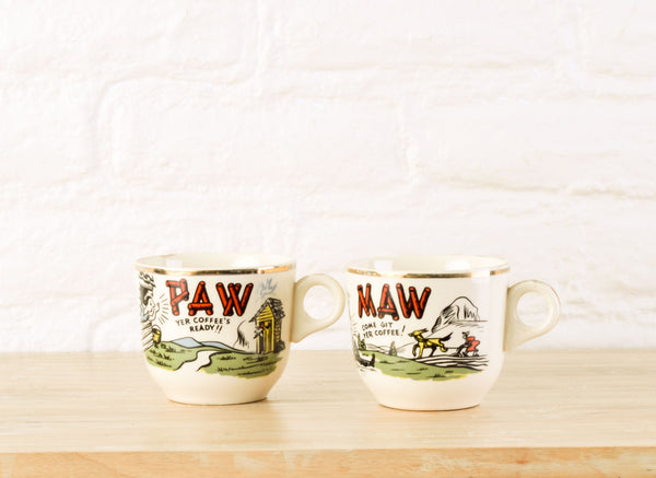 Campy His and Hers Coffee Mugs
