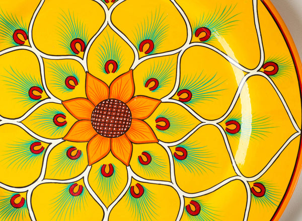 Detail Sunflower Plate