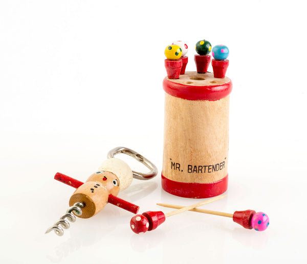Mr. Bartender Corkscrew and Martini Skewers