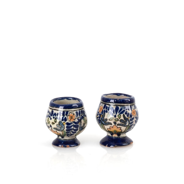 Vintage El Caballito Mexican Pottery Shot Glasses