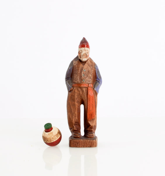 Carved French Voyageur Figurine