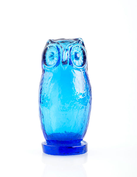 Blue Art Glass Owl by Pilgrim