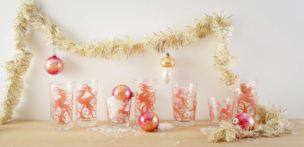 Retro Pink Glassware and Ornaments
