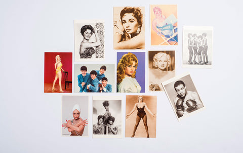 Set of Twelve Postcards of Pop Culture Icons
