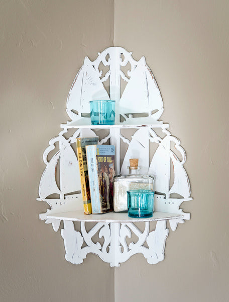 Port of Call Curio Shelf with Knick Knacks