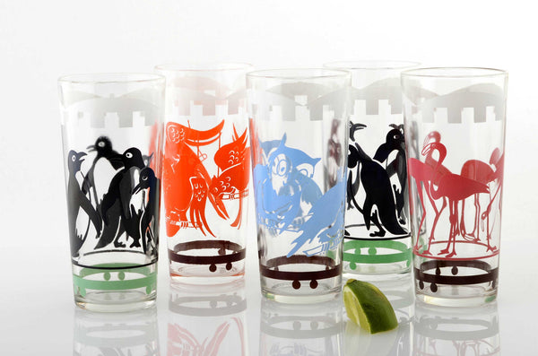 Zoo Animals Glassware Set