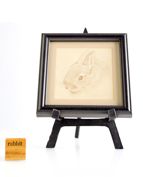 Tishler Drawing of Rabbit and Stamp