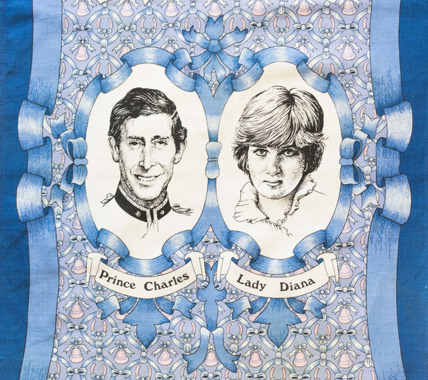 Prince Charles and Lady Diana Vintage Tea Towels, set of two