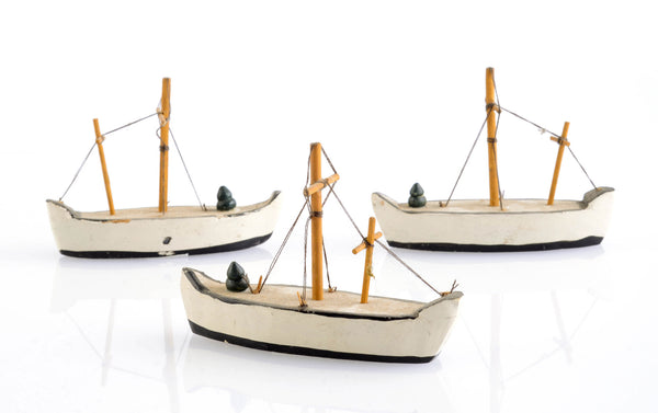 Trio of Vintage Toy Boats