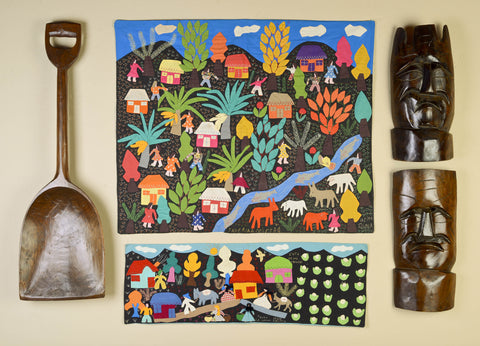 South American Folk Art Collage