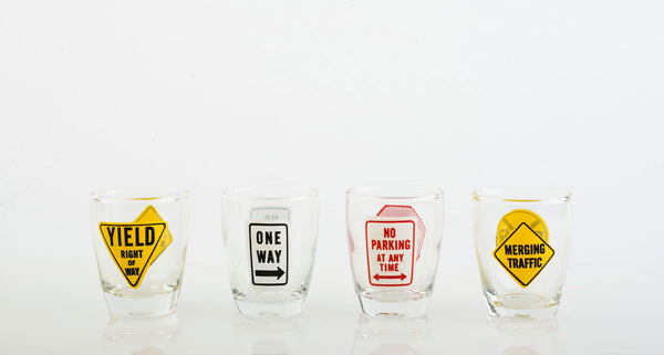 Street Sign Shot Glasses