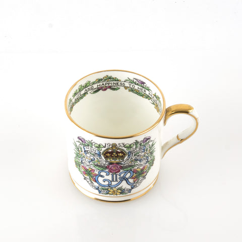 Hammersley Queen Elizabeth II Bone China Coronation Mug 1953
