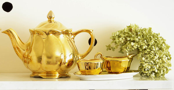 Royal Winton Grimwades Golden Age Teapot Sugar Creamer Tray Made in England