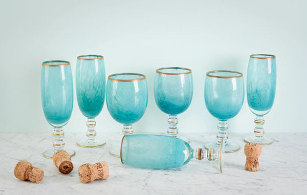 Turquoise Ombre Glassware