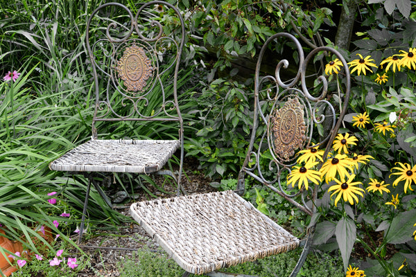 Side View, Victorian Cast Iron Garden Chairs