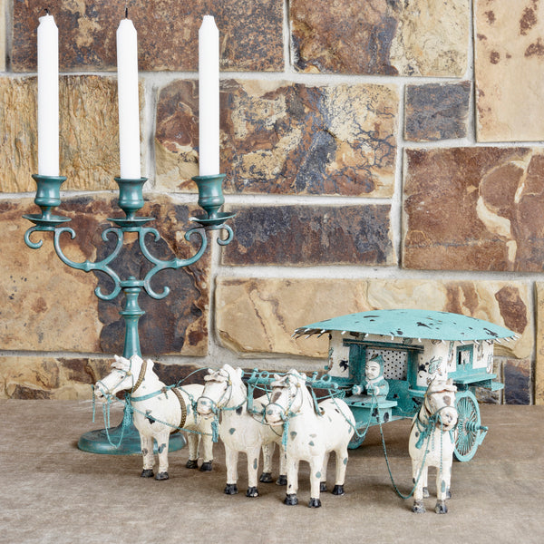 Miniature Chariot and Candleabra