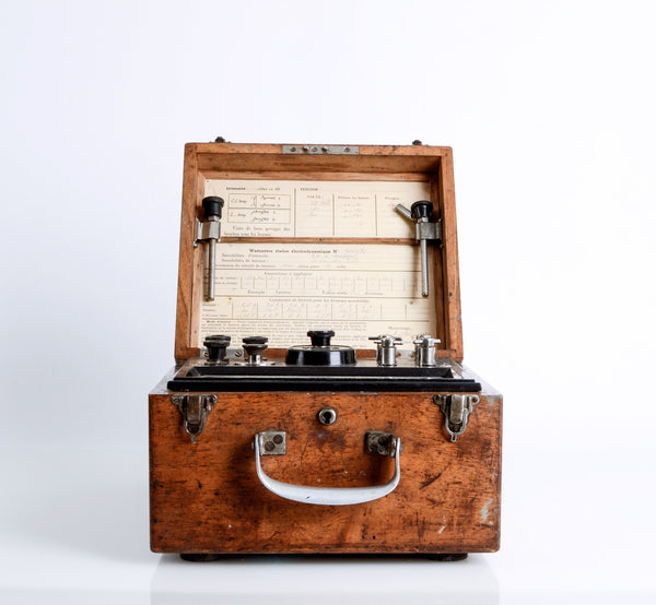 Antique French Wattmeter in a Box
