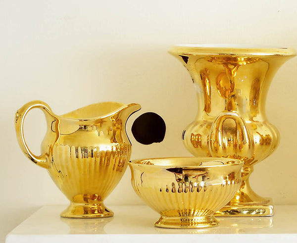 Royal Winton Grimwades Golden Age Pitcher, Vase, Bowl