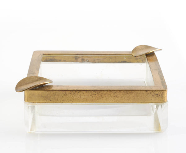 brass glass ashtray