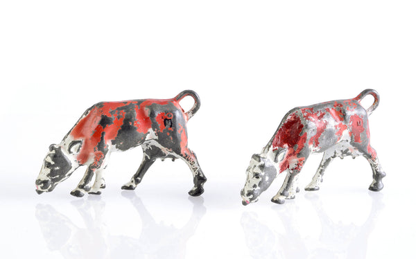 Antique Lead Cows