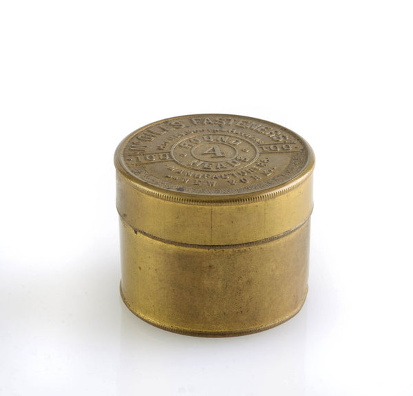 small brass container