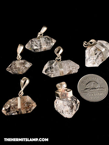 Diamond Quartz Pendants