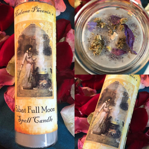 7 Day Candle - Esbat Full Moon by Madame Phoenix