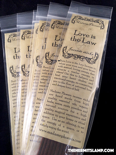 Love is the Law Incense Sticks