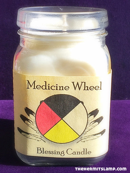 Medicine Wheel Blessing Candle