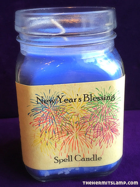 New Year's Blessing Spell Candle