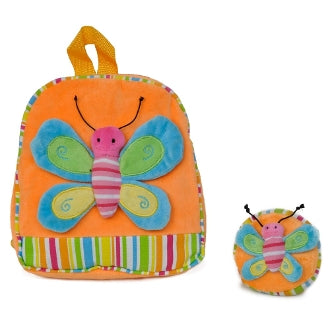 Twinkie Orange Patched Butterfly Backpack