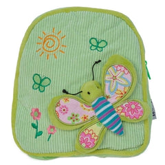 Green Butterfly Design Backpack